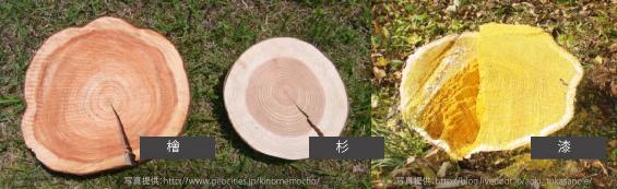 神棚の素材 漆 檜 杉