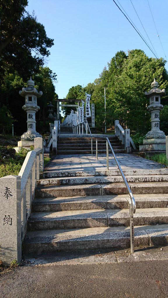 五社大明神社の階段